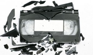broken video cassettes